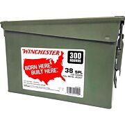 WIN AMMO .38 SPL. (CASE OF 2) 130GR FMJ-RN AMMO CAN 2/300PKS