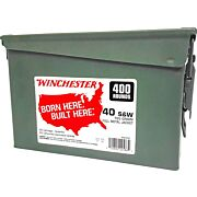 WIN AMMO .40SW (CASE OF 2) 165GR FMJ-TC AMMO CAN 2/400PKS