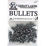 GREAT LAKES BULLETS 9MM .356 124GR. LEAD-RN 100CT