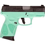 TAURUS G2C 9MM 12-SHOT 3-DOT ADJ. CYAN FRAME BLACK SLIDE
