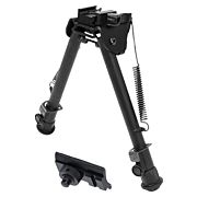 "UTG BIPOD TACTICAL OP 8-12.4"" PICATINNY MOUNT W/STUD ADAPTER"