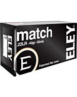 ELEY AMMO MATCH .22LR 40GR. EPS 50-PACK