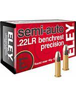 ELEY AMMO PRECISION .22LR 40GR SEMI-AUTO BENCHREST 50-PACK