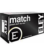 ELEY AMMO MATCH PISTOL .22LR 40GR. ROUND NOSE 50-PACK