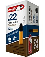 AGUILA AMMO .22LR CASE LOT PSTL MATCH 40GR LDRN 1000RD CS
