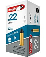 AGUILA AMMO COLIBRI CB .22LR 420FPS. 20GR. LEAD RN 50-PACK