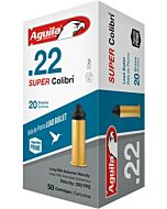 AGUILA AMMO SUPER COLIBRI 22LR 590FPS. 20GR. LEAD RN 50-PACK