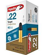 AGUILA AMMO TARGET .22LR 1080FPS. 40GR. LEAD RN 50-PACK