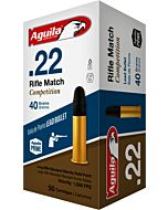AGUILA AMMO RIFLE MATCH .22LR 1080FPS. 40GR. LEAD RN 50-PACK