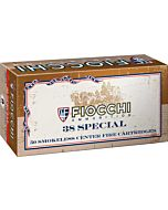 FIOCCHI AMMO .38 SPECIAL 158GR. LEAD-FP 50-PACK