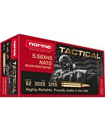 NORMA AMMO 5.56 (SS109) 62GR. GREEN TIP 20-PACK