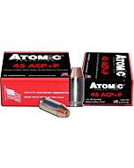 ATOMIC AMMO .45ACP +P 185GR. BONDED JHP 20-PACK