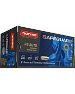 NORMA AMMO .45ACP SAFEGUARD 230GR. JHP 50-PACK