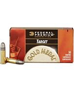 FED AMMO GOLD MEDAL .22LR 1200FPS. 40GR. LEAD-RN 50PK