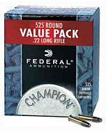 FED AMMO .22LR 1260FPS. 36GR. HOLLOW POINT 525-PACK