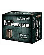 LIBERTY AMMO CIVIL DEFENSE 10MM AUTO 60GR. HP 20-PACK