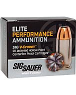 SIG AMMO 9MM LUGER 147GR. ELITE V-CROWN JHP 20-PACK