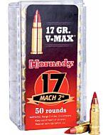 HORNADY AMMO .17MACH2 17GR. V-MAX 50-PACK