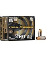 FED AMMO PREMIUM 9MM 147GR. HST JHP 20-PACK