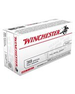 WIN AMMO USA .38 SPECIAL 130GR. FMJ-RN 50-PACK