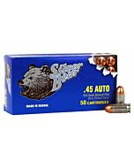 SILVER BEAR .45ACP 230GR FMJ ZINC PLATED STEEL CASE 50-PACK