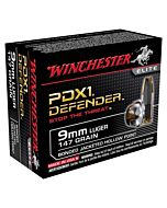 WIN AMMO SUPREME ELITE 20-PACK 9MM LUGER 147GR. PDX1 DEFENDER