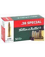 S&B AMMO .38 SPECIAL 158GR. LEAD-RN 50-PACK
