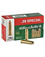 S&B AMMO .38 SPECIAL 158GR. FMJ-RN 50-PACK