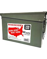 WIN AMMO .45ACP (CASE OF 2) 230GR FMJ-RN AMMO CAN 2/300PKS